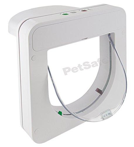 PetSafe Smart Flap Microchip Kattenluik, Voor Katten tot 7 kg, 23,20 x 23,20 cm, Wit