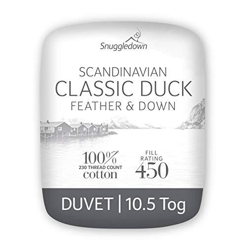 Snuggledown Duck Feather & Down King Size Dekbed 10,5 Tog het hele jaar door dekbed King Size