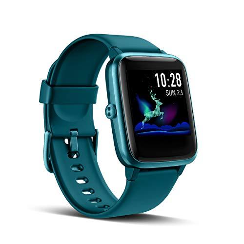 LATEC Smartwatch, fitnessarmband, volledig touchscreen, fitnesstracker, IP68 waterdicht, fitnesshorloge met hartslagmeter, stappenteller, slaapmonitor, dames en heren, polshorloge, sporthorloge voor iOS en Android