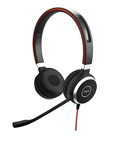 Jabra Evolve 40 MS stereo-kabel-headset met USB en 3,5 mm jack, zwart