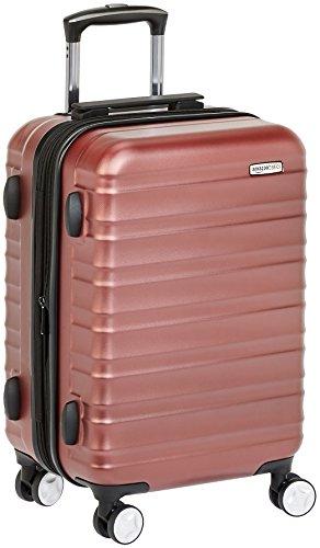 Premium harde spinner-bagage met ingebouwd TSA-slot van Amazon Basics - 55 cm handbagage, rood