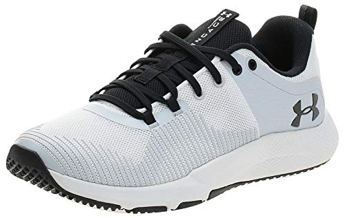 Under Armour Men's Charged Engage Running Shoe, White White Halo Gray Black, 11 UK