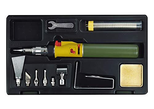 Proxxon 28144 Soldeerbout/MICROFLAM gasset MGS, met uitgebreide accessoires, om te werken met open vlam of via katalysator met opzetstukken, vlamtemperaturen tot 1.300 °C