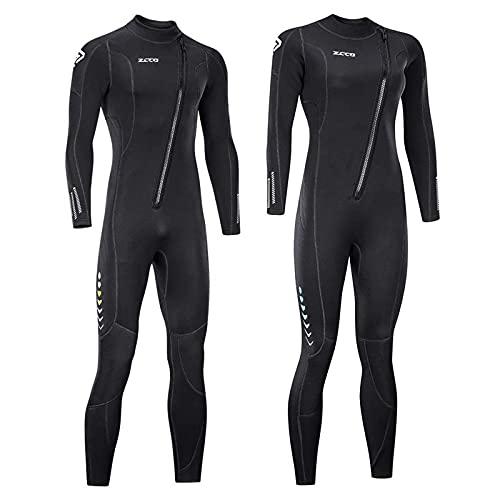 ZCCO Ultra Stretch 3mm Neopreen Wetsuit, Front Zip Full Body Duiken Suit, een stuk voor Mannen Vrouwen-Snorkelen, Scuba Duiken Zwemmen, Surfen (Women's Large)