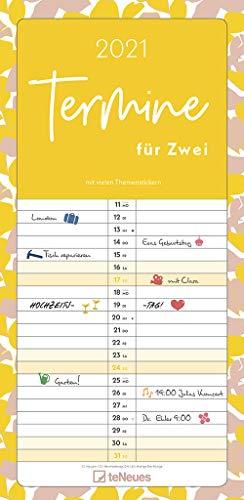 Termine für 2 Colour 2021 Familienplaner - Timer - Termin-Planer - Couple-Kalender - Familien-Kalender - 22x45