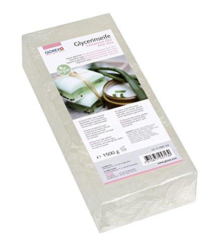 Glorex GmbH 6 1600 162 glycerine-zeep Öko met aloë vera, transparant, 1500 g