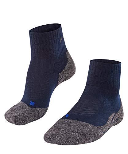 FALKE Wandelsokken TK2 Short Cool Lyocell heren zwart blauw vele andere kleuren dunne versterkte trekkingsokken zonder patroon met gemiddelde voering lang warm voor wandelen 1 paar