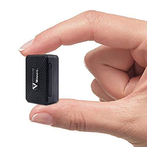 Winnes Mini GPS Tracker, draagbare real-time GPS Tracker Mini GPS tracking Anti-verloren GPS Locator voor portemonnee Tas Portemonnee Kinderen Schooltas Belangrijke documenten Auto Lost Finder met APP