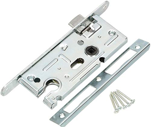 KOTARBAU Insteekslot 72/40 mm voor profielcilinder universeel deurslot deurslot kamerdeurslot binnendeurslot huisdeurslot slot slot rechts/links zilver