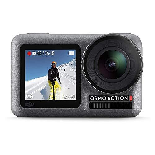DJI Osmo Action - Digitale camera met 11 m Dual Screen, Waterbestendig, 4K HDR-Video 12MP 145 Degree Angle Camera, Duurzame Lensdop, Schuur- en Stofbestendig, Anti-Olie/Watercoating - Zwart