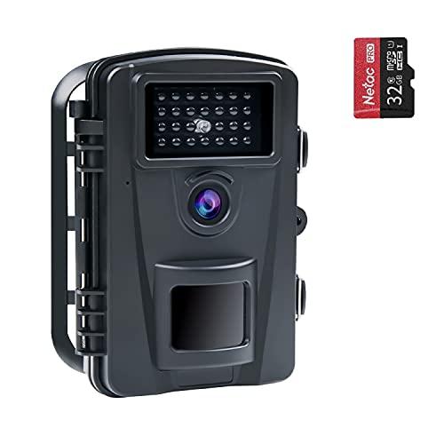 COOLIFE Jachtcamera 16MP 1080P HD Nachtjachtcamera 940nm Geen helderheid IR LED 0.2s Snelheid Waterdichte IP66 Trail-bewakingscamera met 32G-kaart