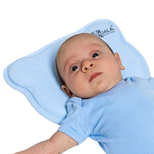Koala Babycare Baby Kussen Plagiocefalie Afneembare Hoes (met twee kussenslopen) ter Voorkoming van een afgeplat Hoofd van Traagschuim - Geregistreerd Design KBC®