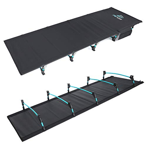 FE Active - Compact klapbed van volledig aluminium, ultralicht, comfortabel om te slapen, draagbaar campingbed voor kamperen, wandelen, trekking, rugzakreizen. Ontworpen in Californië