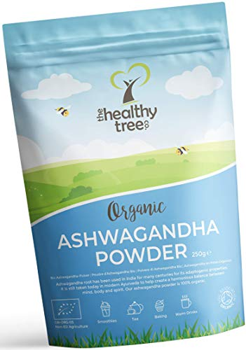 Organic Raw Ashwagandha Powder - 100% Natural Ayurvedic Adaptogenic Healing Herb for Mind, Body and Spirit - Pure Ashwagandha Root Powder by TheHealthyTree Company 250g
