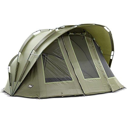 Lucx® Bobcat Bivvy Vistent, voor 2 personen, voor 2 personen, visserstent, carp dome vistent, campingtent