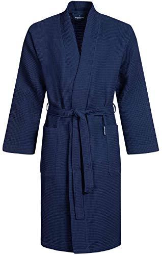 Morgenstern zomer badjas heren katoen wafel katoen ochtendjas kamerjas licht XXL blauw