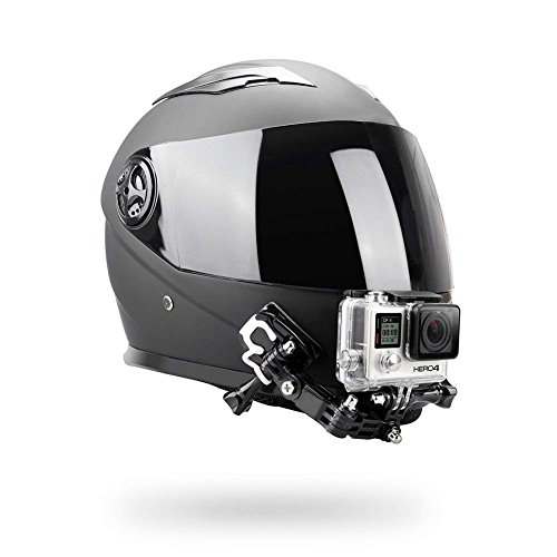Helmet Chin Mount Helmet Mount Kit/Helmet Front Side Swivel Mount/Flat Curved Adhesive Mounts For GoPro Hero 3 4 5 6 7Black 8 Cam Action Camera