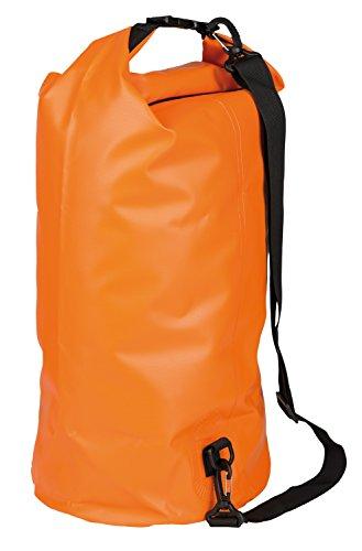 Idena 24003 - plunjezak van pvc, waterdichte tas met draagriem, 30 liter, oranje, ideaal voor camping, watersporters en op reis