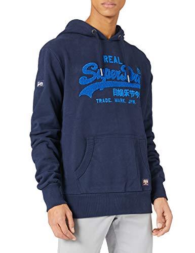 Superdry Heren Vl Chenille Ub Hood Hooded Sweatshirt, Nautical Navy, S