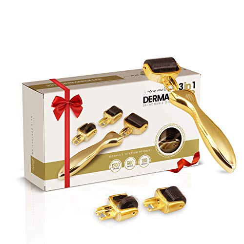 Dermaroller 0.5mm - Anti-Aging en Huidverzorging Derma Roller van hoge kwaliteit - Met Titanium Naalden tegen Acne, Rimpels, Littekens en Cellulitis - 3 in 1 set