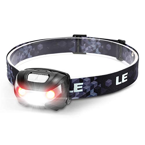 LE USB-oplaadbare hoofdlamp, led-hoofdlamp met 5 lichtmodi koplamp en rood licht, IPX4 spatwaterdichte behuizing, ideaal voor kamperen joggen, inclusief USB-kabel
