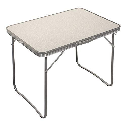 Aktive 52814 Campingtafel, inklapbaar, lichte tafel, inklapbare poten, 80 x 60 x 70 cm, MDF-hout, frame van staal, wit, draaggreep