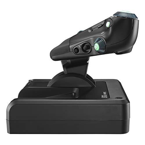 Logitech G Saitek X52 Pro Flight Control systeem, controller en joystick simulator, LCD Display, verlichte Knoppen, 2x USB, PC - Zwart/zilver