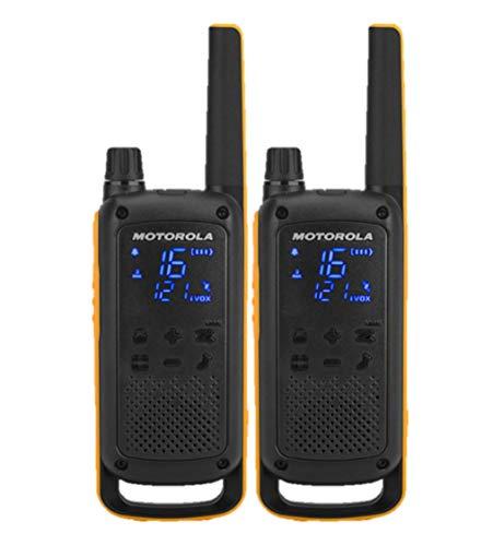 Motorola Talkabout T82 Extreme Walkie Talkies, Twin Pack, B8P00811YDEMAG, 20 x 5 x 3 cm, Zwart/Oranje