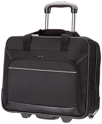 Amazon Basics Laptoptas met snelrollende wielen en gemakkelijk toegankelijk voorvak - passend voor laptops tot 16 inch (40 cm)
