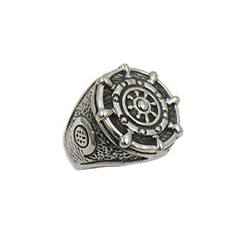Heren titanium stalen ring Vintage ring Viking ring piraat ring 925 zilveren ring ring religieuze ring trouwring geschenk