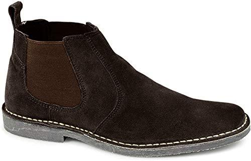 Roamers Donker Bruin Mens Elastische Dealer Suede woestijn laarzen (12)