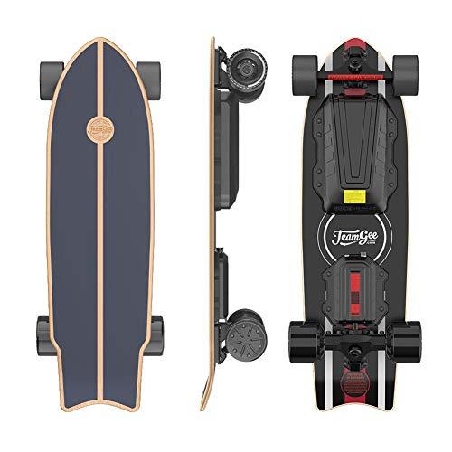 Teamgee H20 MINI 31-inch elektrisch skateboard met lange skateboard op afstand Ontworpen voor tieners en volwassenen, 24PMH topsnelheid, naafmotoren 900W, 4 snelheden, 30 km bereik