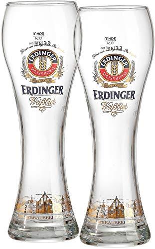 Bierglas Erdinger, 0,5 L, Set Van 2