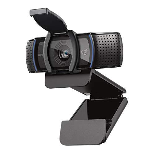 Logitech C920S HD Pro Webcam, Full HD 1080p/30fps videobellen, stereo audio, HD lichtcorrectie, privacy sluiter, werkt met Skype, Zoom, FaceTime, Hangouts, PC/Mac/Laptop/Macbook/Tablet - Zwart