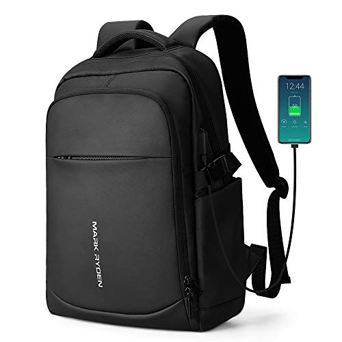 Mark Ryden 2019 Nieuwe Anti-Dief Mode Mannen Rugzak Multifunctionele Waterdichte 15.6 inch Laptop Tas Man USB Opladen Reistas, 3.0zwart, 30*20*15,