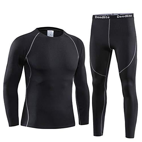 Acfoda Thermo-ondergoed voor heren, warm ski-ondergoed, zacht, ademend, functioneel ondergoed, S-XXL