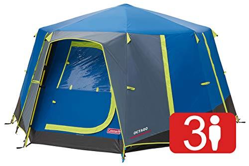 Coleman Tent Octago, Tent Ideaal voor Camping In De Tuin, Dome Tent, Waterdicht 3 Person Camping Tent met Ingenaaid Grond