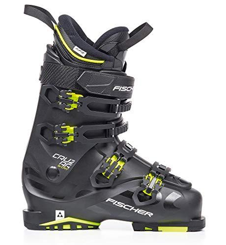 Fischer Unisex – skischoenen voor volwassenen Cruzar Sport MP27,5 EU42 2/3 Vacuum Flex 100 skistlaarzen 2019, zwart/geel 27.5