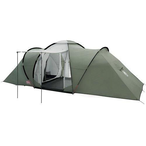 Coleman Ridgeline 4/6 Plus Tent voor 4/6 personen, vis-A-Vis tunneltent, campingtent, koepeltent met zonnedak, waterkolom 3.000 mm