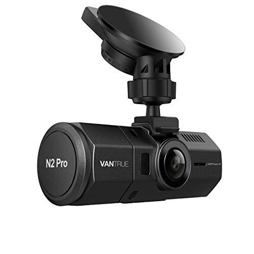 Vantrue N2 Pro Dual 1080P Dash Cam Front en Cabin Dashcam voor auto's (2.5K 1440P Single Front) 1.5 inch 310° Autocamera Infrarood Nachtzicht, Sony Sensor, Parkeermodus, G-Sensor, 256GB Max