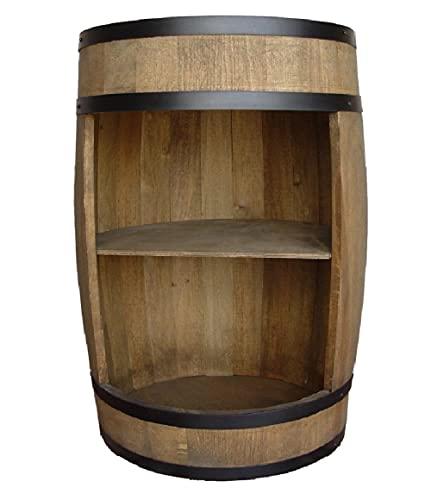 Wijnvat als wijnrek wijnkast bar 80 cm, tafel van houten vat, wijnrek, flessenstandaard deco. vat bier gin huisbar bier en whisky. Comodenkast houten vat voor woonkamer
