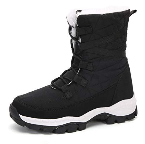 Vrouwen Flat Wandelen Trekken Ankle Boots, Winter Ankle snowboots Winter High Top op Trekking Footwear Up Lichtgewicht ademend warme snowboots Running Boots,D,38