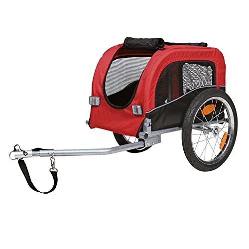 Trixie 12813 fietskar, S: 53 × 60 × 60/117 cm, zwart/rood