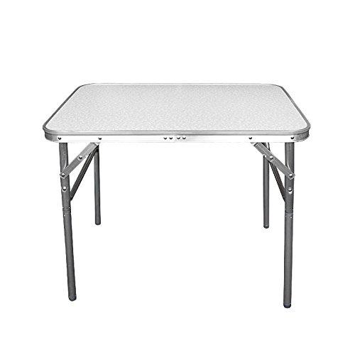 Wohaga Campingtafel, inklapbare aluminium tafel, 75 x 55 x 60 cm, met draagfunctie, klaptafel, tuintafel, bijzettafel, picknicktafel, aluminium tafel, opvouwbaar en in hoogte verstelbaar