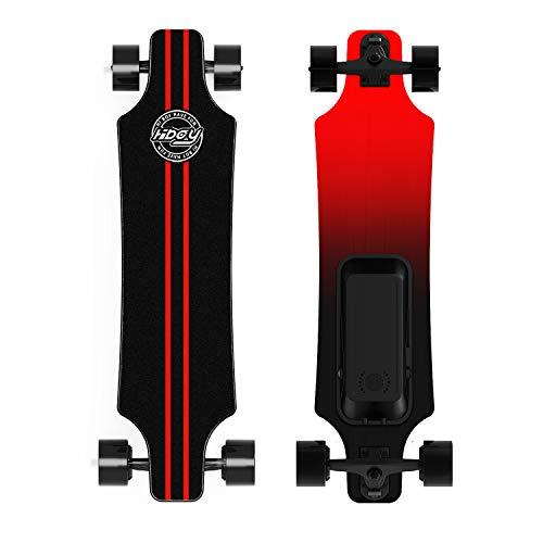 Hiboy Elektrisch skateboard 25 km/h, 350 W x 2 dubbele motor, 20 km bereik, elektrisch longboard met afstandsbediening, elektryczna deskorolka z bezprzewodowym pilotem zdalnego sterowania