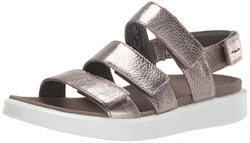 ECCO Flowtw sneakers voor dames, Zilver warm grijs metallic 54893, 40 EU
