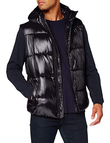 Superdry Heren High Shine Gewatteerde Gilet Gewatteerde jas, zwart, XXL