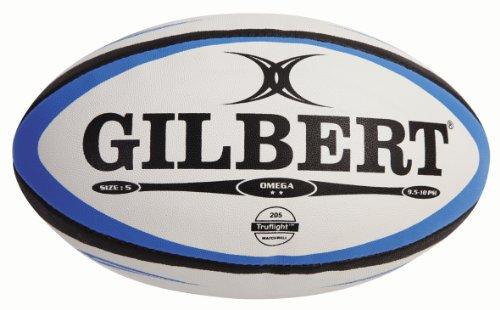 Gilbert Heren Omega Match Rugby Ball - Blauw/Zwart, Maat 5