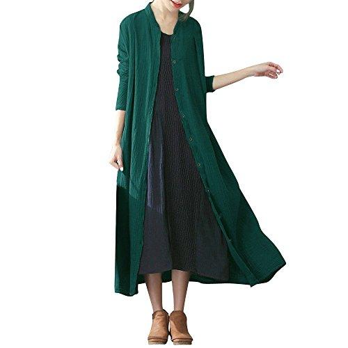 Trenchcoat Groen Tweed Mantel Long Mannen Extra Moderne zwarte Coat Outwear jurk unieke gezellige overgang mantel
