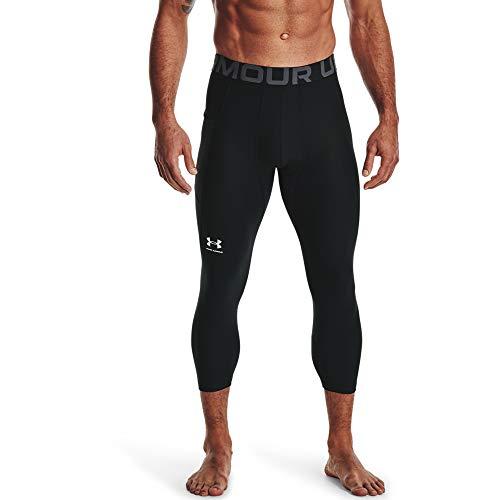 Under Armour Comfortabele en robuuste 3/4 sportlegging voor mannen, lichte en elastische trainingsbroek met compressiepasvorm Ua Hg Armour 3/4 legging